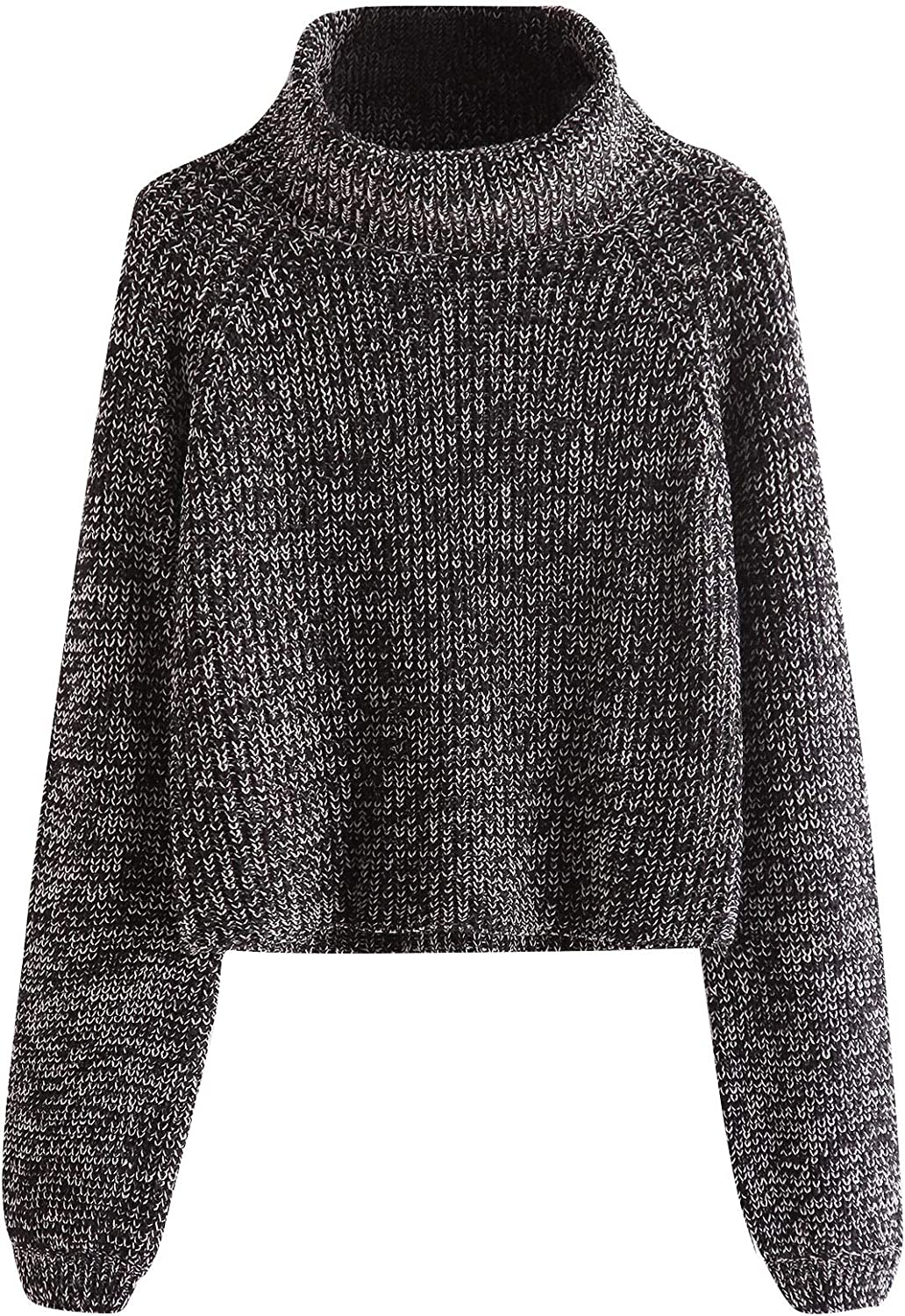 Milumia Turtleneck Winter Sweaters Long Sleeves Fitted Crop Sweater Fall Fashion Sexy Wear