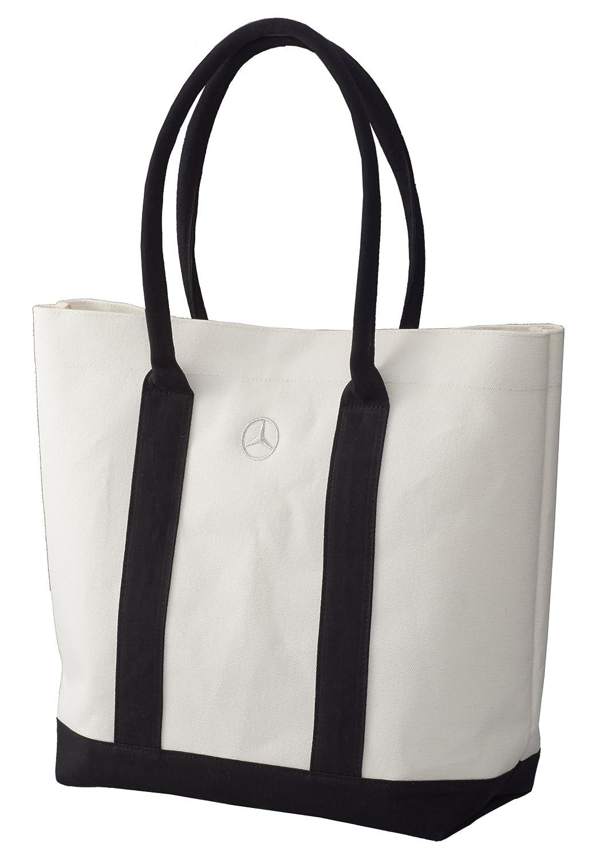 【Mercedes-Benz Collection】 トートバッグキャンバスホワイト/ブラック