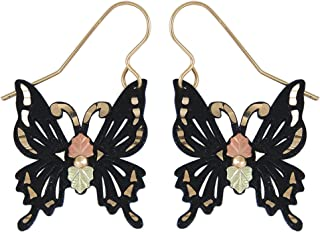 product image for Black Hills Gold Butterfly Earrings in 925 Sterling Silver