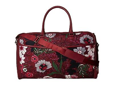 Vera Bradley Iconic Convertible Garment Bag (Bordeaux Meadow) Bags