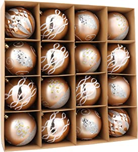 Blivalley 16ct Christmas Ball Ornaments 80mm/3.15