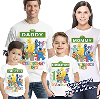 customized elmo birthday shirts