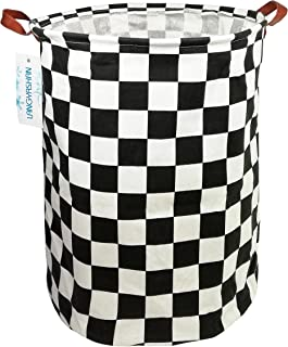 LANGYASHAN Storage Bin,Canvas Fabric Collapsible Organizer Basket for Laundry Hamper,Toy Bins,Gift Baskets, Bedroom, Clothes,Baby Nursery(Football)