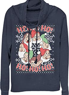 Snow White and The Seven Dwarves Juniors' Xmas Heigh Ho Cowl Neck Sweatshirt