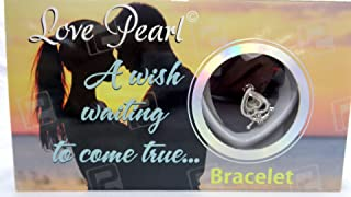 Bracelet Love Wish Pearl Kit Chain Kit Pendant Cultured Pearl in Kit Set Stainless Steel - PU (Heart)
