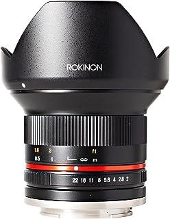 Rokinon 12mm F2.0 NCS CS Ultra Wide Angle Lens for Fuji X Mount Digital Cameras (Black) (RK12M-FX) - Fixed