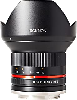 Rokinon 12mm F2.0 NCS CS Ultra Wide Angle Fixed Lens for Olympus and Panasonic Micro 4/3 (MFT) Mount Digital Cameras (Black) (RK12M-MFT)