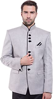 WINTAGE Men's Rayon Nehru Mandarin Blazer- 20 Colors and 15 Sizes