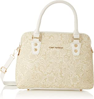 Lino Perros Women's Artificial Leather Satchel (White)