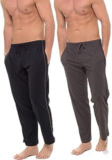 INSIGNIA 2 Pack Mens Plain Pyjama Lounge Bottoms Pants Soft Jersey