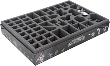 Feldherr ATEZ060BO 60 mm (2.36 inches) Foam Tray with 52 compartments for The Warhammer Quest - Silver Tower Board Game Box