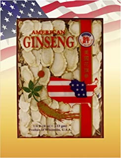 HSU's Ginseng SKU 0126-4 | Mixed Large-Medium Slices | Cultivated American Ginseng from Marathon County, Wisconsin USA w/O...