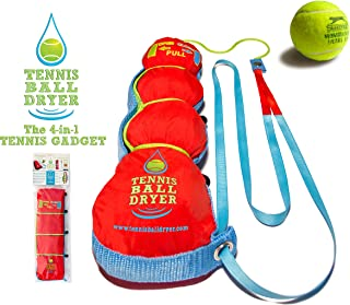Tennis Ball Dryer - 4-in-1 Tennis Accessory - Voted 'Best Tennis Gadget' - Includes 4 Great Features in 1. The perfect Tennis Gift for any player.