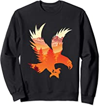Eagle National Bird Patterned Landscape Wildlife Sweatshirt