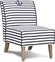 Linon Navy and White Stripe Slipper Lily Chair