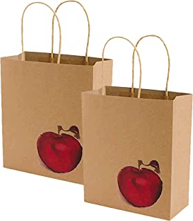 Back To School, Teacher Appreciation, End of School Year Teacher Inspired Apple Kraft Gift Bag! (Set of 2)