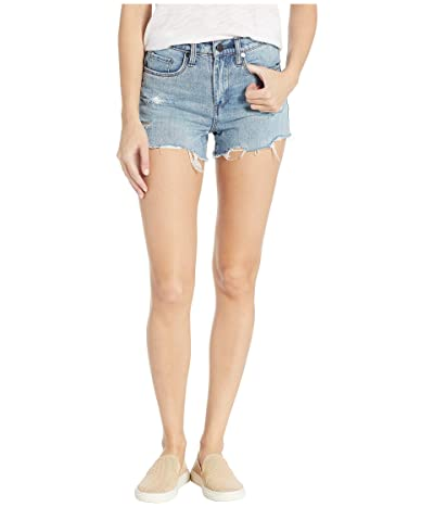 Blank NYC The Barrow High-Rise Distressed Shorts in Top Notch (Top Notch) Women