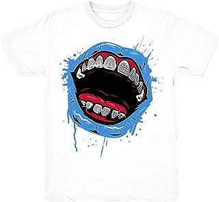 cd6b7b7eef9e Travis Scott 4 Grillz Drip Shirts Match Jordan 4 Travis Scott Cactus Jack  Sneakers White T
