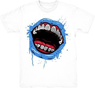 Travis Scott 4 Grillz Drip Shirts Match Jordan 4 Travis Scott Cactus Jack Sneakers White T-Shirts