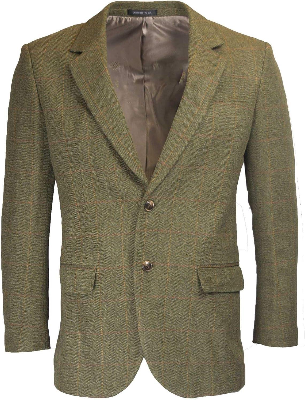 Walker and Hawkes Windsor - Blazer de Tweed para Hombre - Chaqueta de Estilo clásico inglés