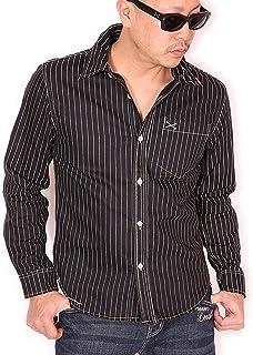 (バンソン) VANSON クロスボーン ワンポイント刺繍 ツイルシャツ 長袖シャツ NVSL-803