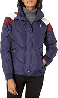 U.S. POLO ASSN. Puffer Jacket with Corduroy Evening Blue XL