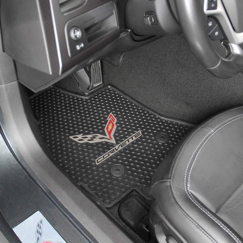 2 Pi/Ã/¨ces Rubber Car Mats GL 0116 Set Tapis de Caoutchouc Citro/Ã/«n Berlingo// Peut Partner plus Clips de Montage G Profil