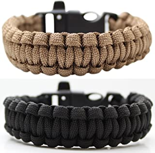 Southland Archery Supply SAS Survival Paracord Bracelet 550lbs with Whistle - 2/Pack
