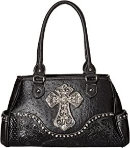 Ostrich Cross Satchel