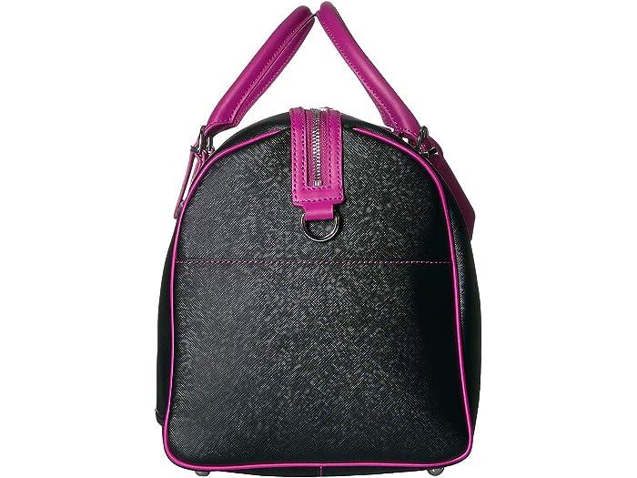 Lipault Paris Variación Bolsa De Lona Black/sweet Fuchsia Duffle Bags