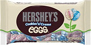 HERSHEY'S Cookies 'n' Crème EGGS Chocolates, Creamy White Crème Eggs with Cookie Crunch Bits Individually Wrapped in Easte...