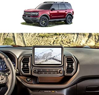 Screen Protector Foils for 2021 Ford Bronco Sport SYNC3 8In Navigation Display Tempered Glass 9H Hardness Anti Scratch HD ...