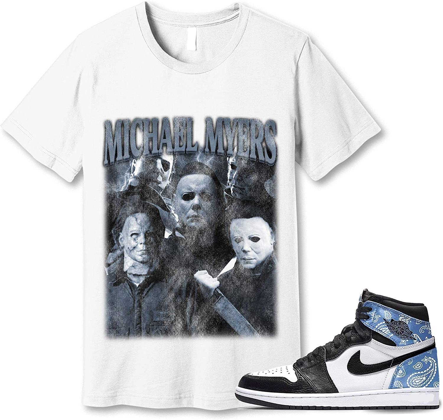 #Michael #Myer OFFicial store T-Shirt Manufacturer direct delivery to Match Jordan Paisley 1 Sneaker G Snkrs