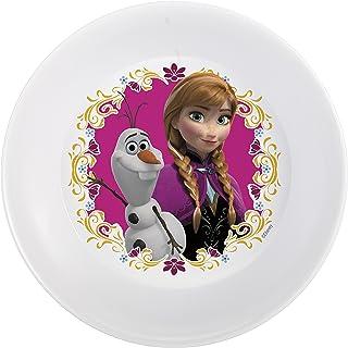 Zak Designs FZNA-0361 Disney Frozen 5-inch Plastic Kids Bowl, Olaf & Anna, Melamine, Anna Olaf