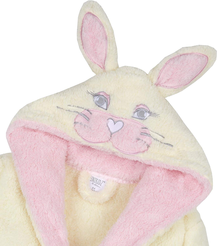 Metzuyan Girls Snuggle Fleece Bunny Rabbit Mouse Dressing Gown with Hood