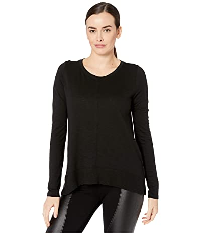 Lilla P Flame Modal Long Sleeve Rib Bottom Tee (Black) Women