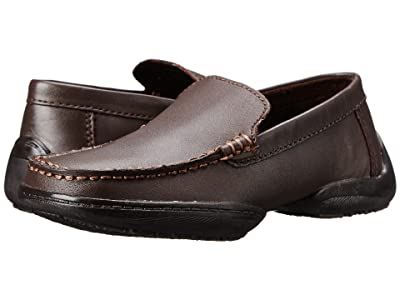 Kenneth Cole Reaction Kids Driving Dime (Little Kid/Big Kid) (Dark Brown Leather) Boys Shoes