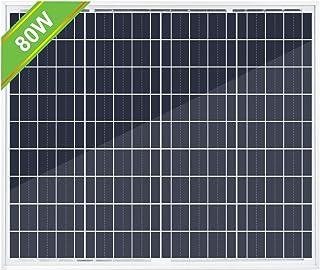 ECO-WORTHY 80W ソーラーパネル 12V バッテリー充電用 更新版 超安い【日本倉庫出荷 5年品質保証 メーカー販売】