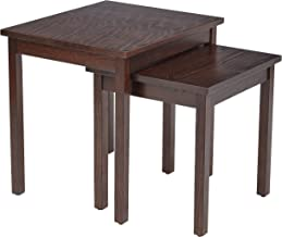 AVE SIX Main Street Nesting Side Tables, Espresso
