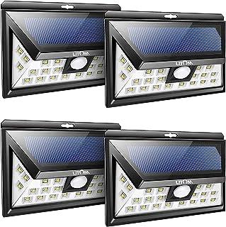LITOM Original Solar Lights Outdoor, 3 Optional Modes Wireless Motion Sensor Light with..