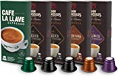 Don Francisco's & Cafe La Llave Espresso Capsules Variety Pack 10 Each, Recyclable Coffee Pods (50 Count) Compatible with Nespresso Original Brewers