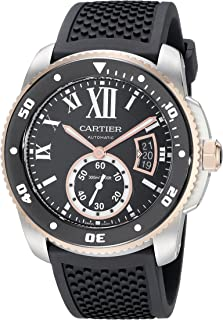 Cartier Mens W7100055 Analog Display Swiss Automatic Black Watch