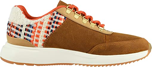 Carmel Brown Waxy Suede/Nepal Tweed