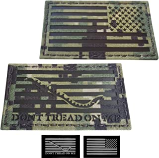 Tactical Freaky IR Bundle Set of 2 pcs AOR2 First Navy Jack USA Reversed Flag DTOM 2x3.5 NWU Type III Infrared Chest Rig Plate Carrier Morale Fastener Patches