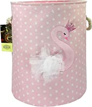 HUNRUNG Large Laundry Hamper,Cartoon Organizer Bin for Baby Nursery,Toys,Laundry,Baby Clothing,Gift Baskets (Swan)