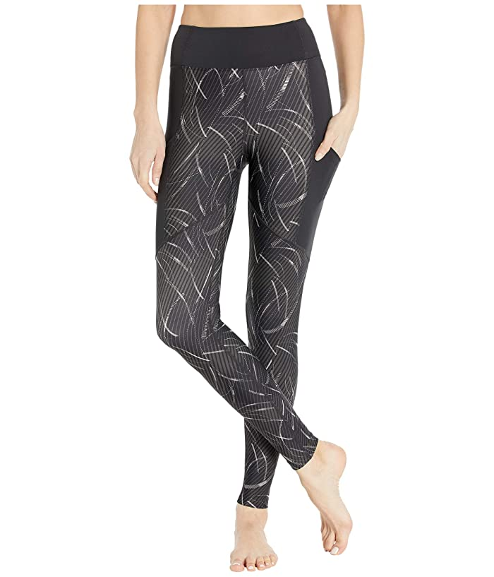 ASICS  Core Train Print Tights (Performance Black) Womens Clothing