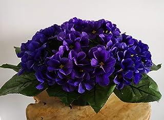 roselynexpress Composition de Fleurs artificielles pour cimetière, lesté Totalement Ciment, Pot en Forme de Charlotte. Réa...