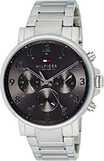 Tommy Hilfiger 1710382 Mens Quartz Watch, Analog Display and Stainless Steel Strap, Grey