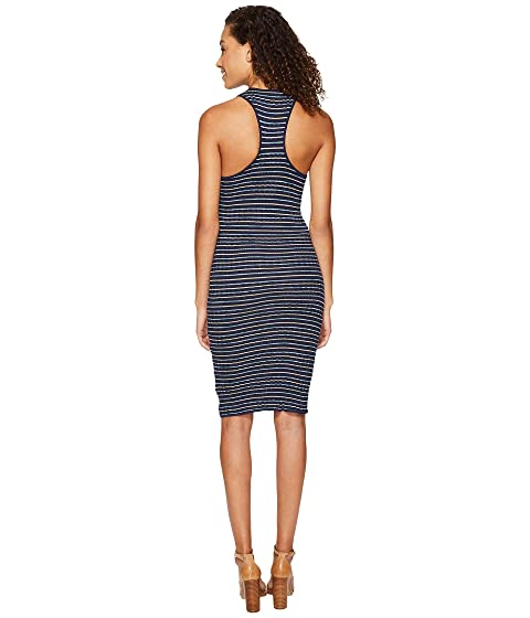 Splendid Tank Knit Dress Stripe Rib Frq1F