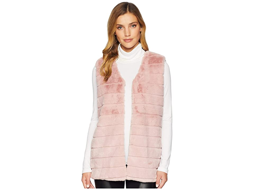 Echo Design Faux Fur Vest (Jaipur Pink) Women